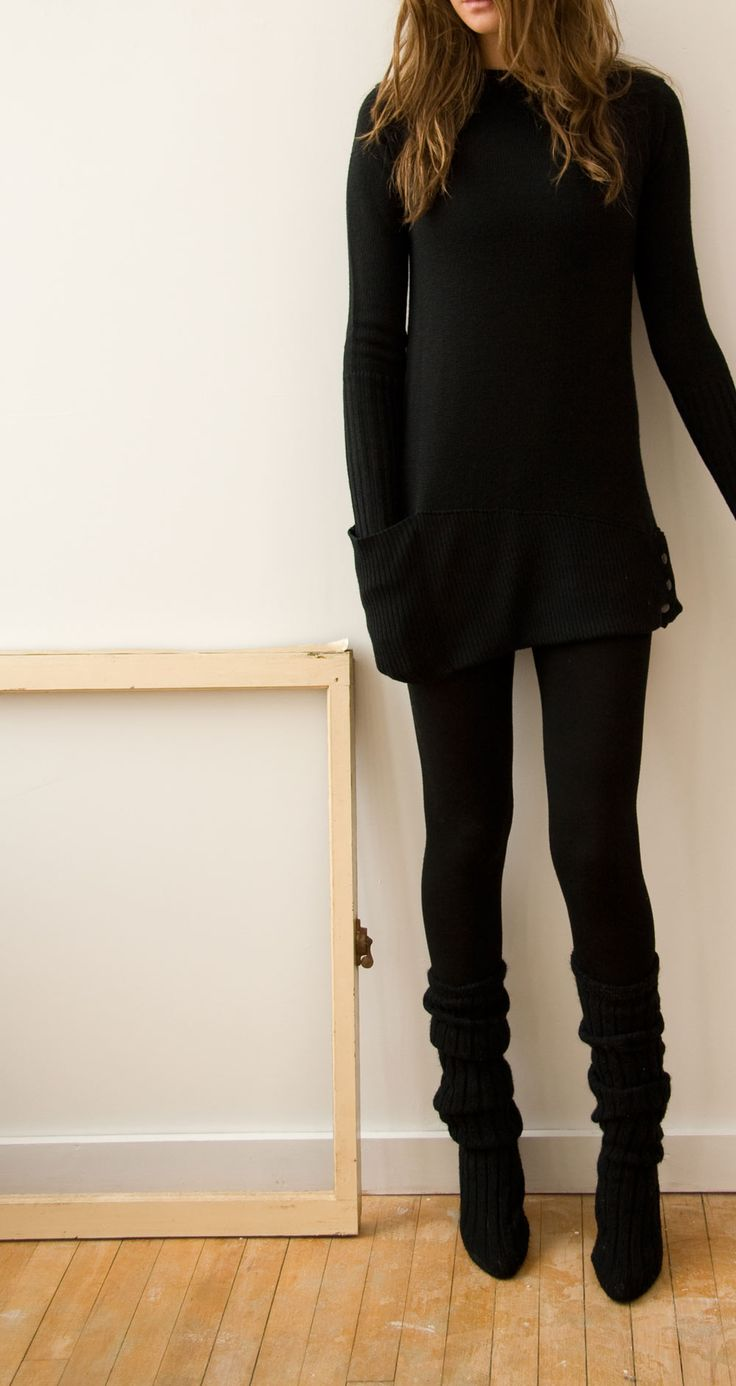 Black dress leggings - N04 New Form Perspective Pocket Sweater I Purchased It In Grey And Love It Black Outfitswork