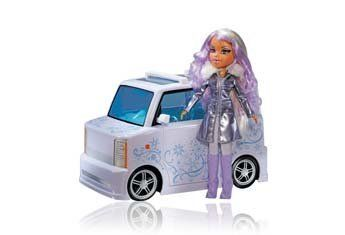 Bratz Platinum Shimmerz RC Vehicle and Doll Yasmin by MGA Entertainment. $99.99. RC car. Car is either  49MHz, controls are forward, reverse and turn. Bratz Platinum Shimmerz RC Vehicle and Doll Yasmin. RC remote (transmitter). Bratz doll. et a Bratz Platinum Shimmerz doll and RC car with this cool package. Purchasers in stores will get their choice of a Platinum Shimmerz  YasmineTM