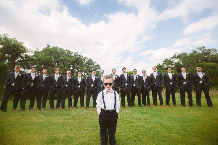 Groomsmen in Suits at Texas Wedding