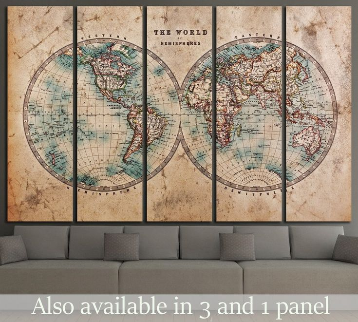 World Map Image In Hindi%0A old World map        Canvas Print