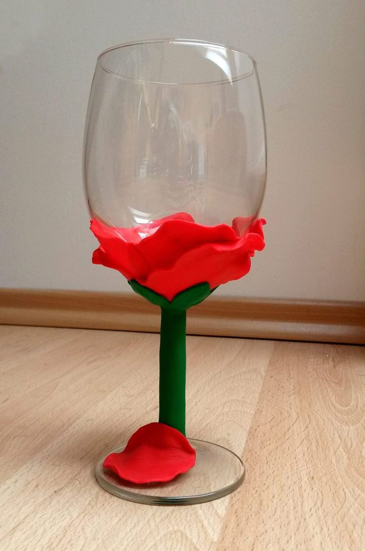 glass of wine... with flower!