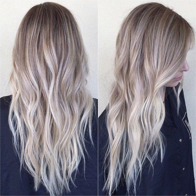 Icy Blonde Hair Balayage