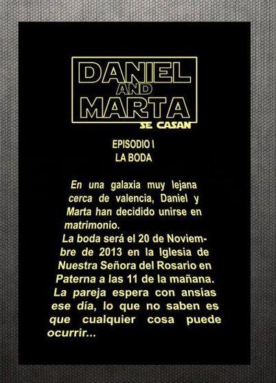 Invitaciones de boda de Star Wars. Visita mi blog para ver más! http://www.invitacionesde.com
