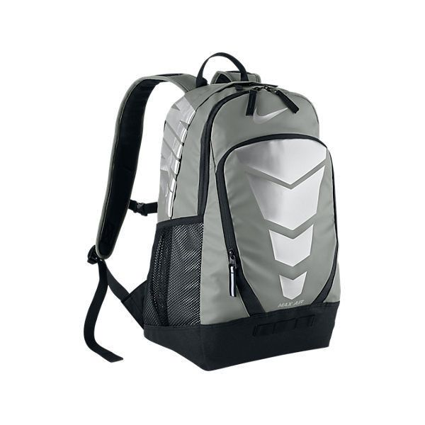 Nike Max Air Vapor Energy Backpack ($60) ❤ liked on Polyvore featuring bags, backpacks, grey, backpack bags, day pack backpack, lightweight daypack, shoulder strap bags and lightweight bags
