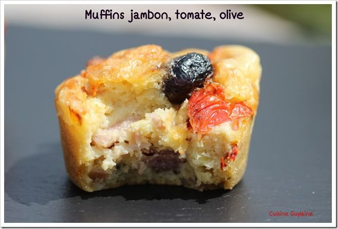 ^^Muffins jambon, tomate, gruyère, olive^^  