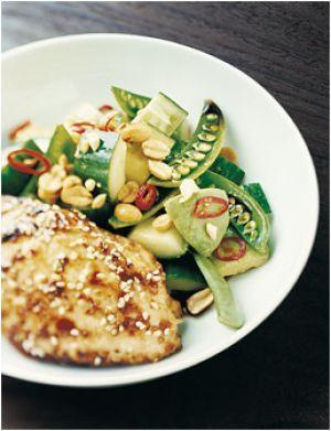 Vietnamese salad with Hoisin chicken
