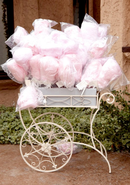Cotton Candy wedding favor!