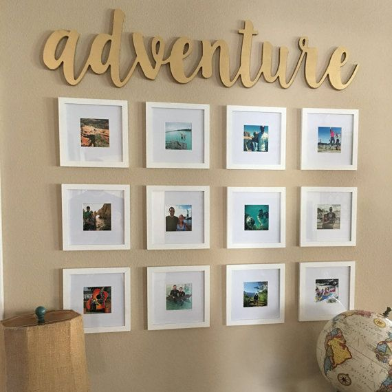 **ABOUT THE SIGN**  Introducing BB Signs newest sign options- CNC wood and metal words! We are offering custom words and phrases out of either 1/2 MDF wood, or mild steel. Other material options are available, so please message us to find out about pricing and availability! This listing is for the word adventure made from 1/2 mdf and measures aprox. 45 wide by 11 tall, and is painted gold. Other paint options are available, so please let us know if you have another request before y...
