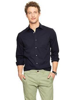 Non-Iron solid poplin shirt | Gap