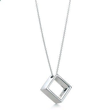Tiffany Geometric Square Pendant