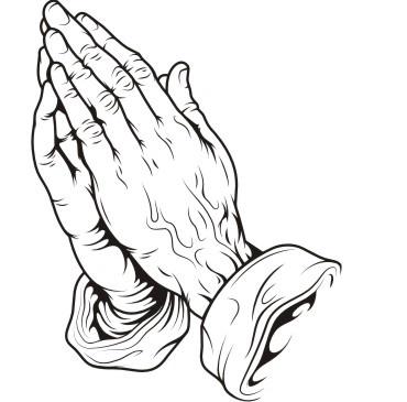 Stilisierte Version von Dürers Betende Händen