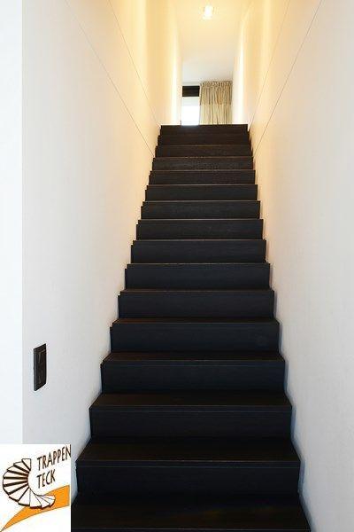 Moderne trap van trappen teck puurs moderne trappen pinterest van - Renovatie van een houten trap ...