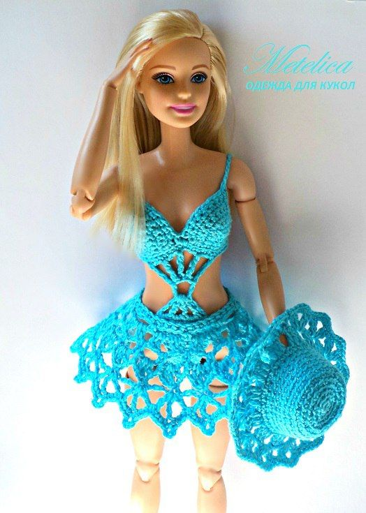 Crochet Pattern Central Barbie Clothes : The 165 best images about Barbie & Ken Doll Clothes and ...