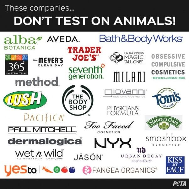 These cosmetic companies don't test on animals. #vegan