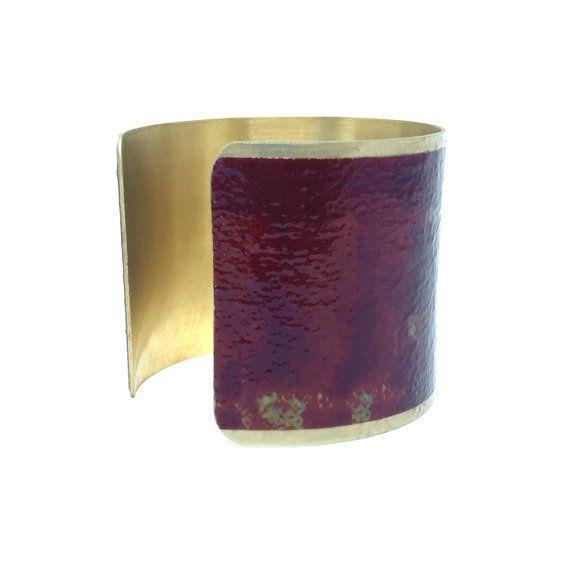 Christmas Jewelry - Brass Cuff Bracelet - Masala Statement Bracelet - Gifts for Women - Romantic Christmas Gift - Sku F15-001a