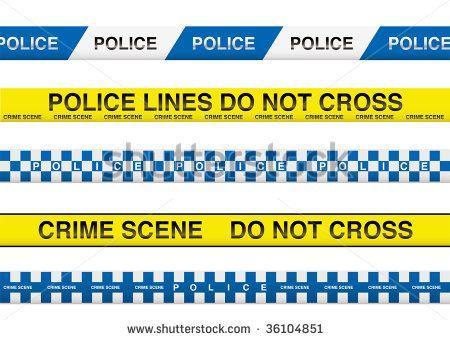 Police lines for crime scene / do not cross