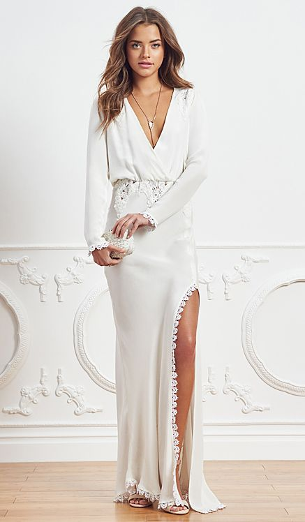 STONE_COLD_FOX Bianca Gown in Ivory | REVOLVE