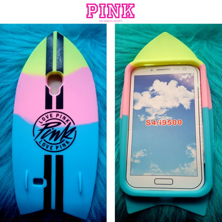 Funda de silicona para Samsung Galaxy S4  Protege tu móvil de arañazos con esta original funda de tabla de surf  Viene con una funda Rosa que podrás guardar en ella lo que quieras