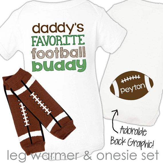 14 best baby daddys images on pinterest good fathers day presents personalized boy football bodysuit and leg warmers daddys little football buddy set great new baby or baby shower gift negle Images