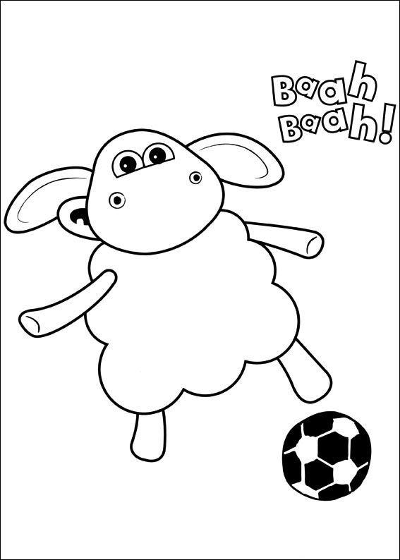 Shaun the sheep Tegninger til Farvelægning. Printbare Farvelægning for børn. Tegninger til udskriv og farve nº 36