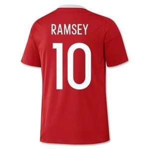 2016 Wales National Team RAMSEY 10 Home Soccer Jersey [D932]