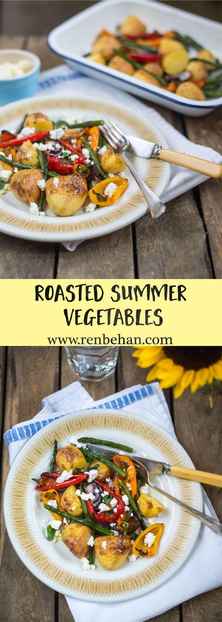 Roasted Summer Vegetables for #tasteofsummer @waitrose