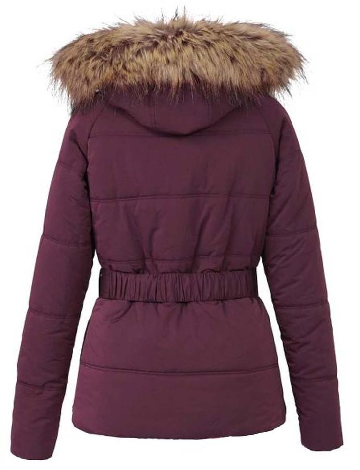 Winterjacke damen rot kapuze