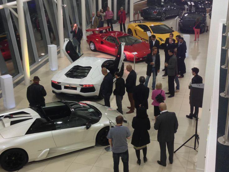 Guests Admire Mixed Generations of Lamborghini