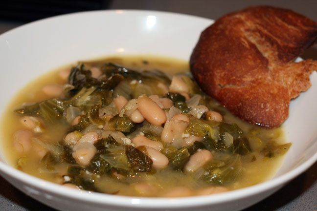 Mama's Kitchen: Italian White Bean & Escarole Soup Recipe | Lil' ...