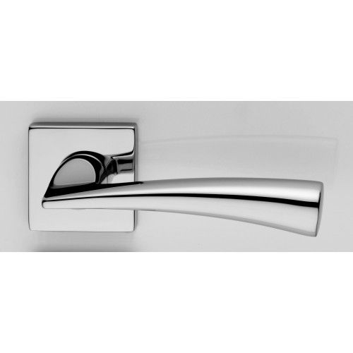 chrome dolce dnd lever on square rose contemporary lever door handles