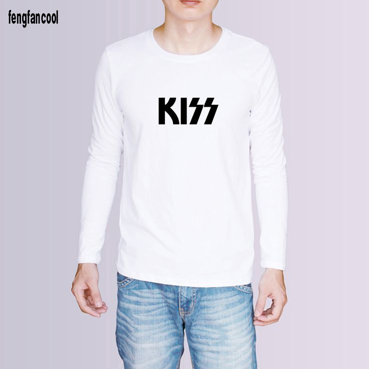 summer outfits men Kiss rock band printed hip hop t shirt men Spring autumn Men cotton good quality men t-shirt white black grey color tees *** This is an AliExpress affiliate pin.  Detailed information can be found on AliExpress website by clicking on the VISIT button