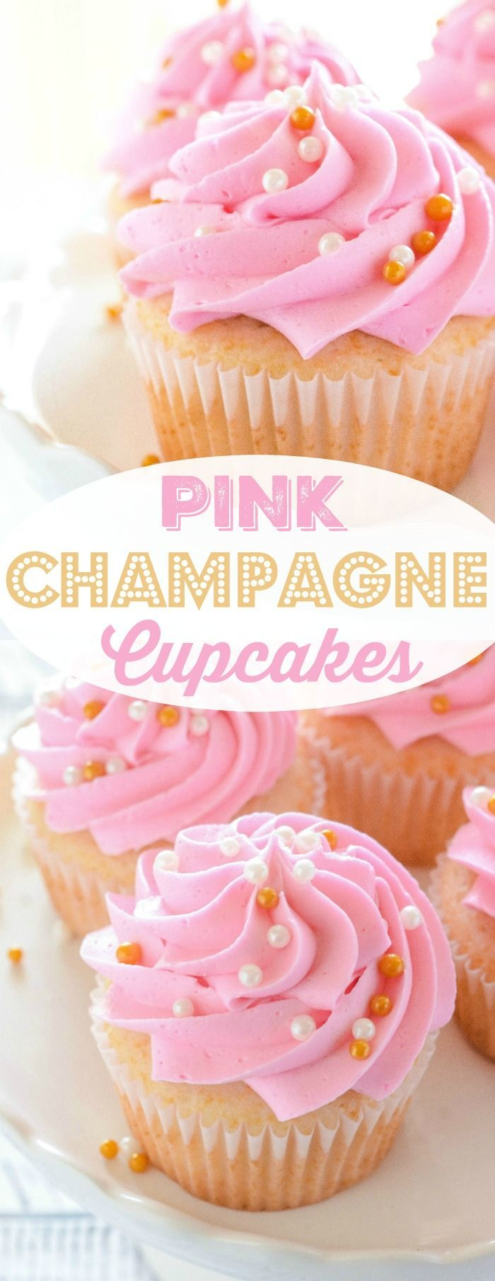 Pink Champagne Cupcakes are perfect for Motheru0027s