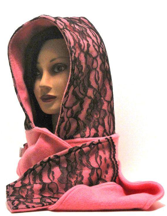 Hood, hoodie scarf, hood, hoodie, scoodie, scood, pink ...