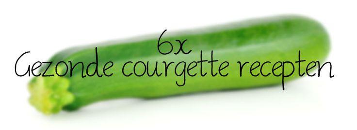 Courgette soep met zalmsnippers | Gevulde courgette met gehakt en paprika | Gegrilde courgette met avocado | Mini pizza's van courgette met chorizo | Co ...