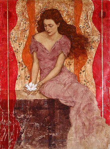 Florecer Branco - Pintura de Francois Fressinier - França