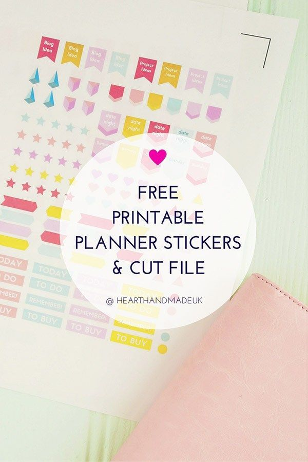 Free Printable Stickers For Your Planner!