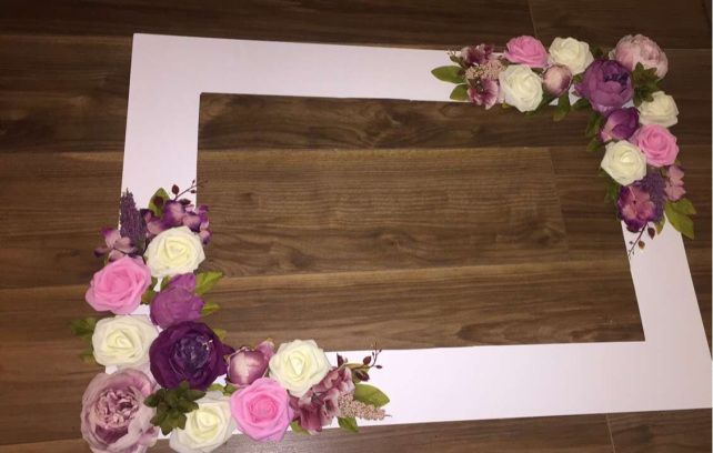 Diy Floral Selfie Frame Diy Wedding Wedding Bridal Mehndi
