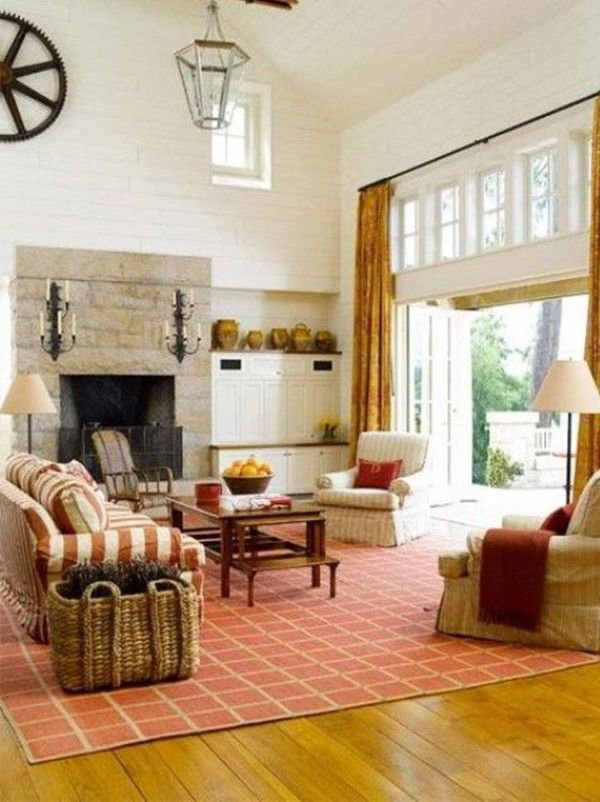 Windows  Huge doors  fireplace focus and vaulted ceilings 166 best LIVING ROOM images on Pinterest   Living room ideas  Fall  . Fall Living Room Decor. Home Design Ideas