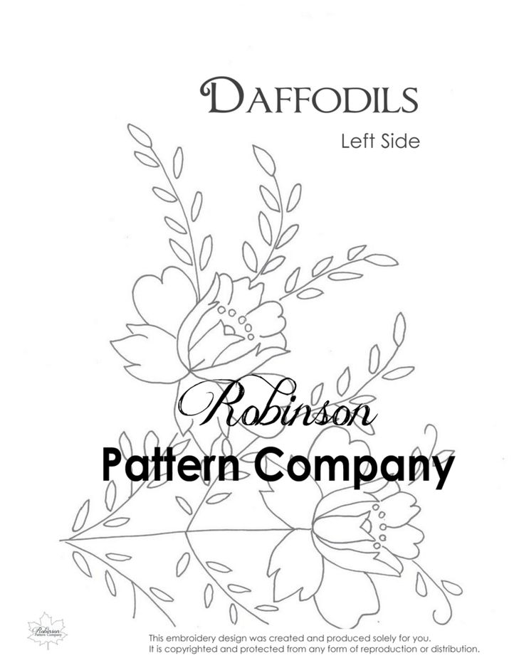 Daffodils Hand Embroidery pattern
