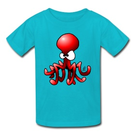 Octopus on a kid's T-Shirt. #Spreadshirt #Cardvibes #funny