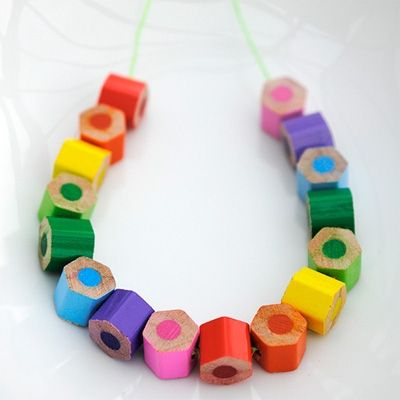 DIY color pencil jewelry