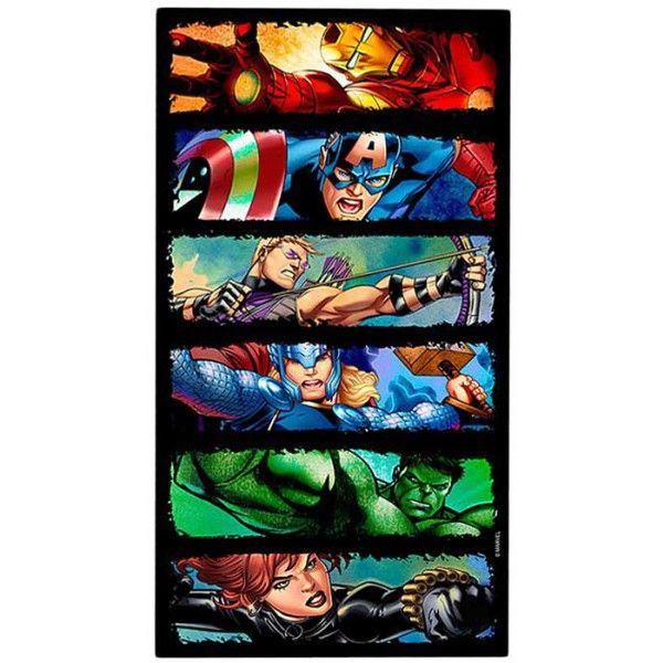 Badehåndklæde til drenge børn med Ironman, Captain america, Hulk, Thor, Hawk eye og Black widow