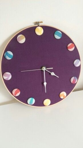 Clock by EmBee Designs (made from Tula Migaloo Delight)