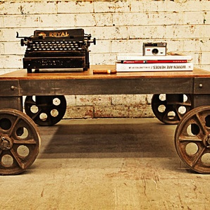 Industrial Coffee Table With Castor Wheels Part 88