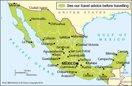Government travel advice for Mexico.