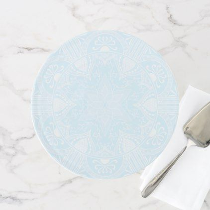 Arctic Mandala Cake Stand - wedding decor marriage design diy cyo party idea