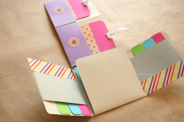"DIY: Album Scrapbook mini-pocket ""Fold"" ~ Craftingeek*"