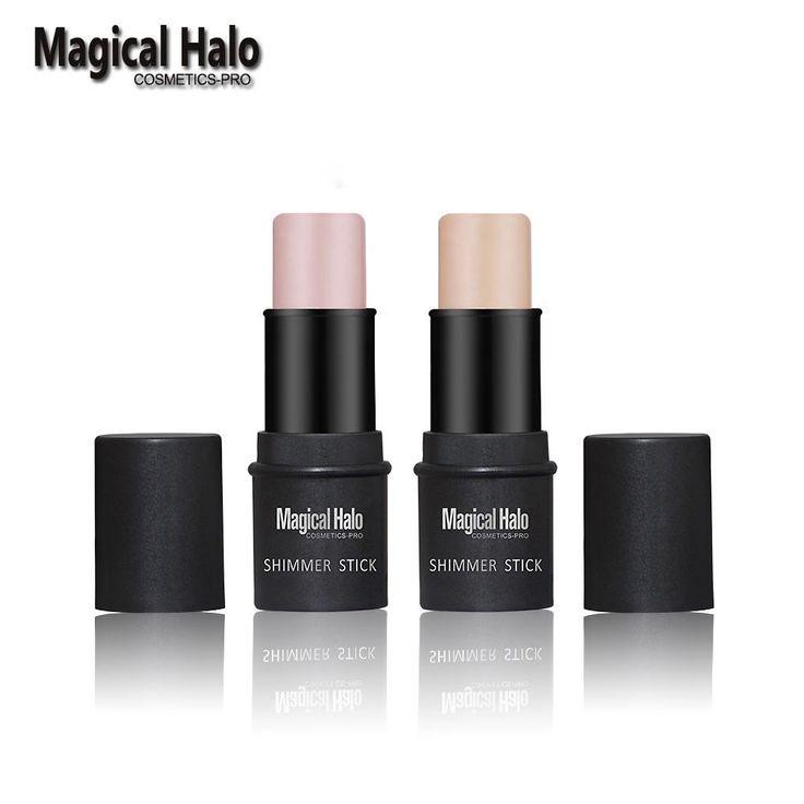 Halo 2 Warna Magical Wajah Contouring Makeup Shimmer Tongkat Highlighter Tongkat Pena Mencerahkan Kulit 3D Wajah Bronzer Highlighter Bubuk