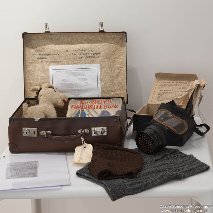 A typical evacuees suitcase - on loan from The Discovery Museum, Newcastle upon Tyne