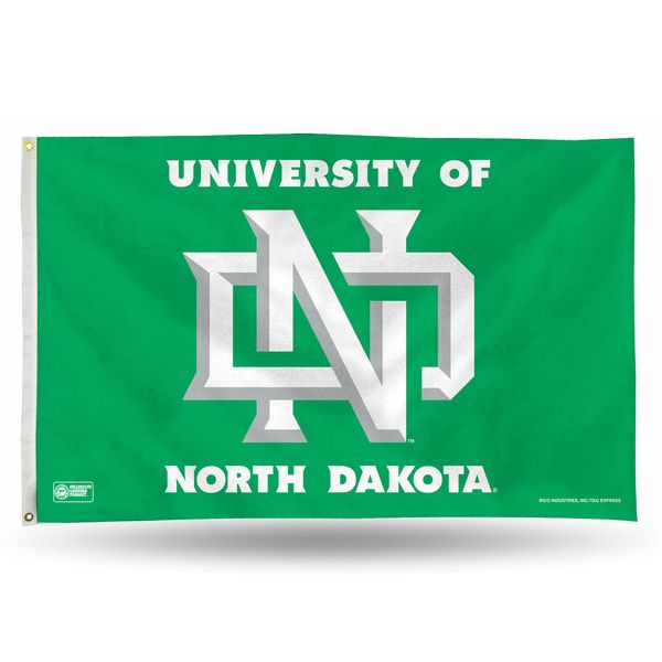 North Dakota Fighting Hawks ND Logo Flag 3x5